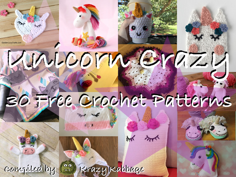 25+ Unicorn Crochet Patterns {Magical crochet toys to make you ... | 600x800