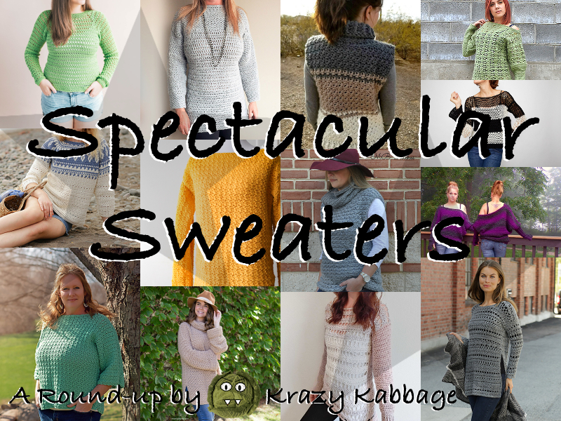 f0ccb0e94d432 Free Crochet Sweater Patterns – Krazy Kabbage