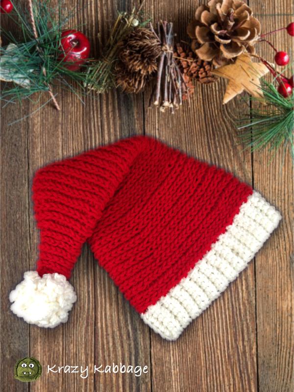 Santa Hat Free Crochet Pattern Krazy Kabbage