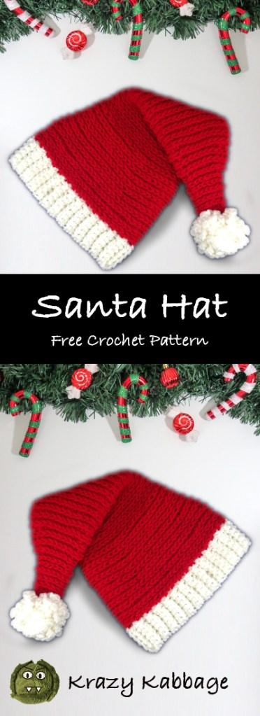 Snowflake Monday | Crochet santa hat pattern, Crochet xmas ... | 1024x372
