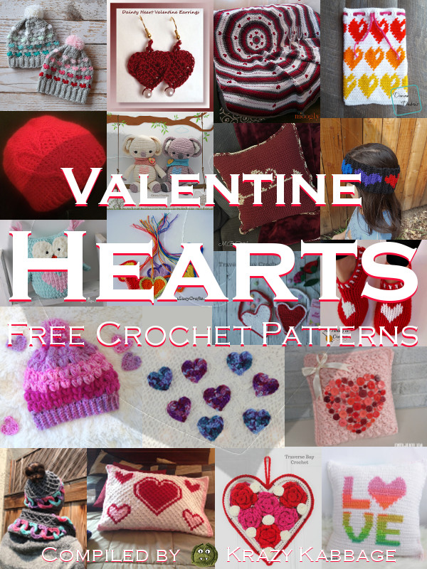 Valentine Hearts Free Crochet Patterns Krazy Kabbage
