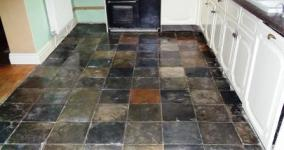 Kitchen Slate Floor After Restoration