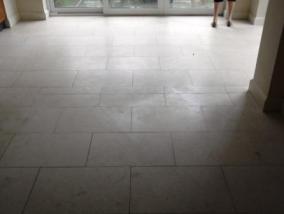 Jerusalem Limestone Floor Before Cleaning