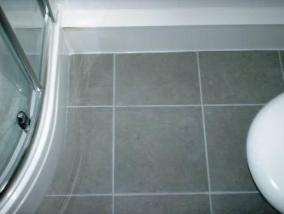 Tiled Ceramic Floor after Grout Colouring