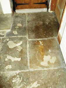 Flagstone Floor Before Cleaning
