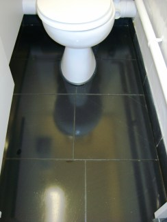 Black Honed Slate in WC After