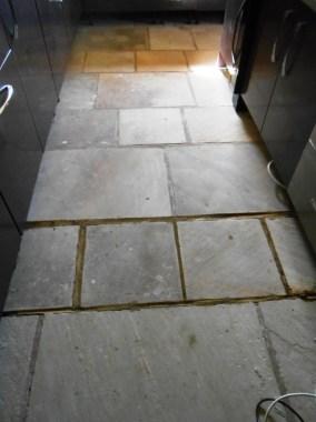 Sandstone floor in Stodday before