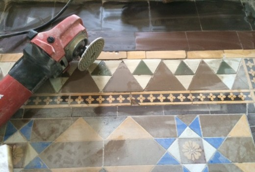 Victorian Tile Lippage Turton During Grinding
