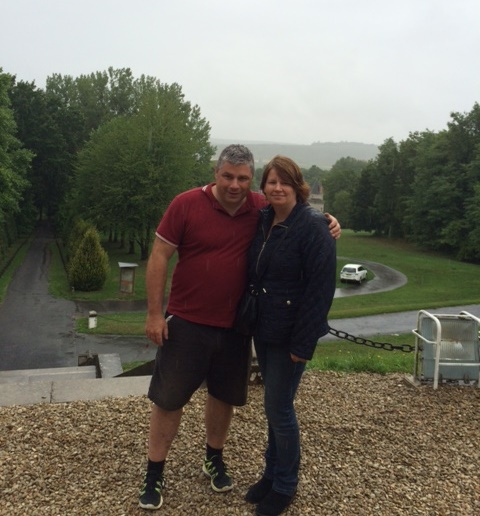 Heidi and Russell at the French Chateaux Reims