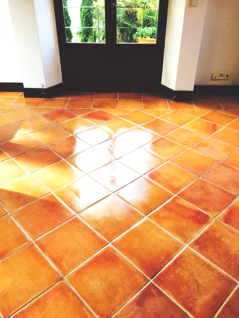 Spanish terracotta floor cleaned and sealed in mallorca tile the customer was advised to use tile doctor neutral cleaner which we brought with us from the uk dailygadgetfo Images