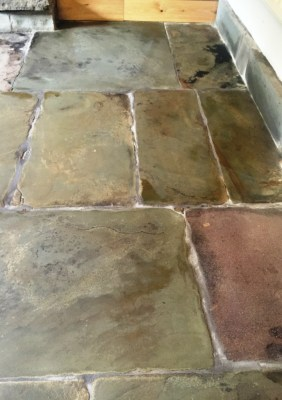 Flagstone floor after restoration in Chorley