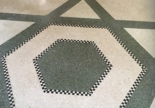 Mosaic Terrazzo Floor Llandudno Restaurant After Restoration