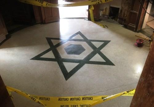 Mosaic Terrazzo Floor Llandudno Restaurant After Restoration