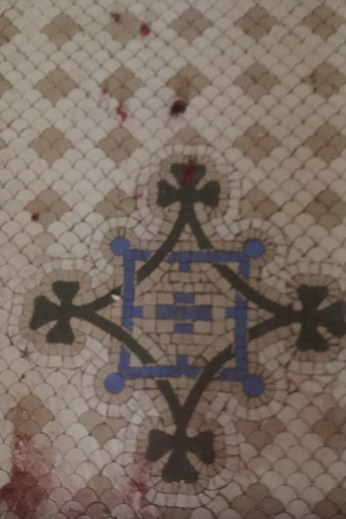 Original Victorian Tiled Floor Before Cleaning Lytham St Annes