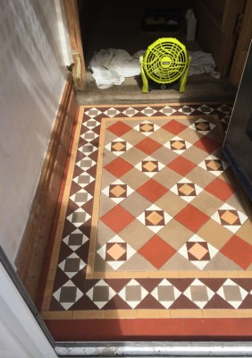Edwardian Tiled Floor After Cleaning in Lytham