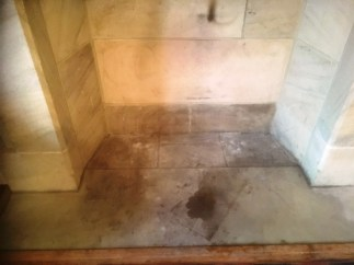 Sandstone Fireplace Preston Before Cleaning