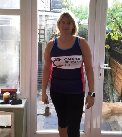 Heidi Taylor raising money for Cancer Research UK in the 2018 London Marathon
