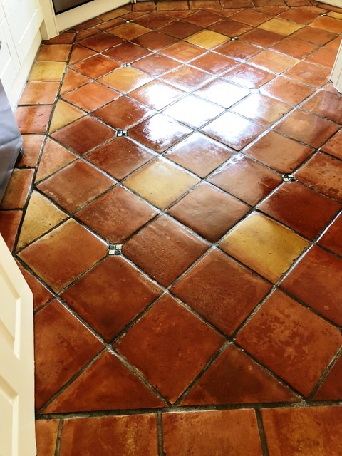 Mexican Terracotta Floor Penwortham After Cleaning
