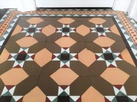 Victorian floor tiles after restoration Lancaster