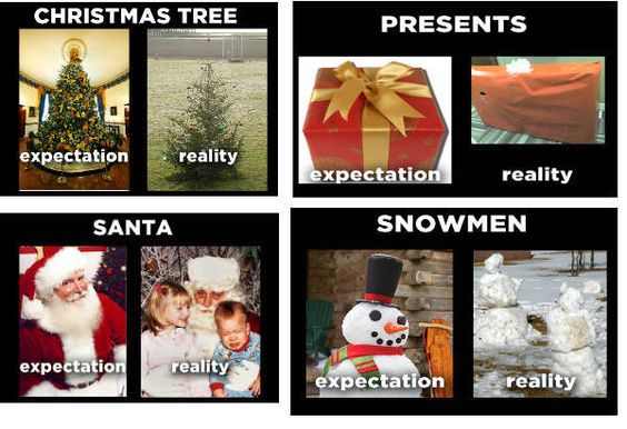 Christmas Expectations vs Reality