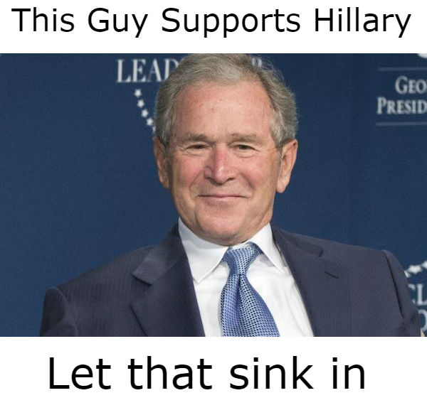 W Supports Hillary