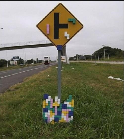 Tetris Sign traffic sign image