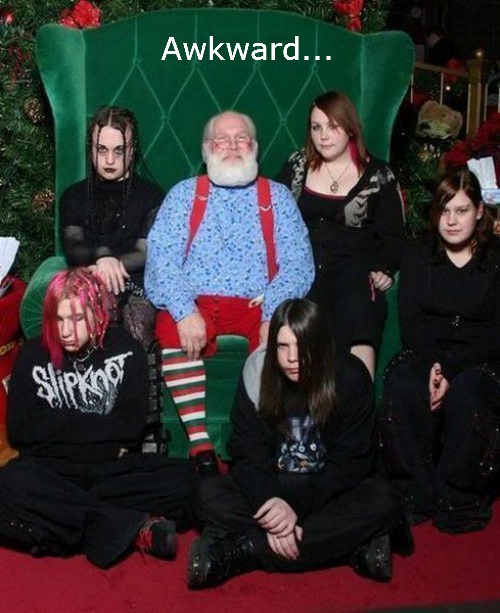 Awkward Santa Picture