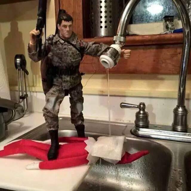 Elf On A Shelf Water Boarded image