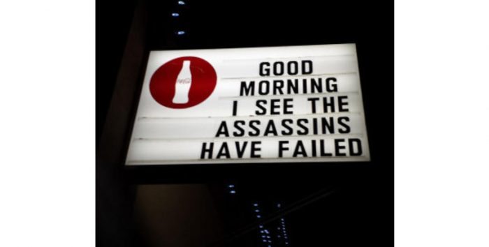 Failed Assassins sign picture