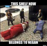 Negan's Shelf elf on a shelf twd image