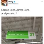 Bond James Bond aisle image