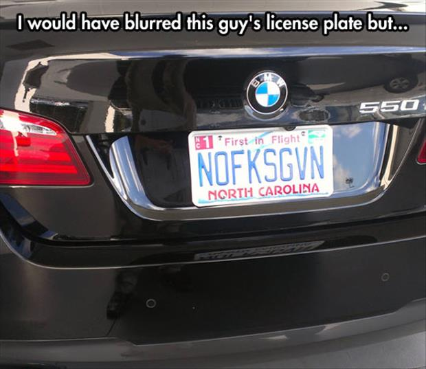Funny License Plates Nofksgvn image