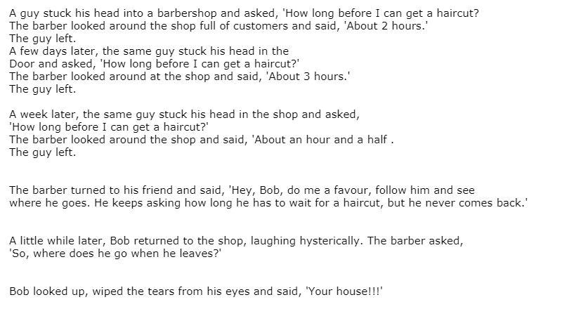 Barbershop Surprise