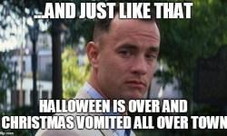 Christmas Vomited gump meme