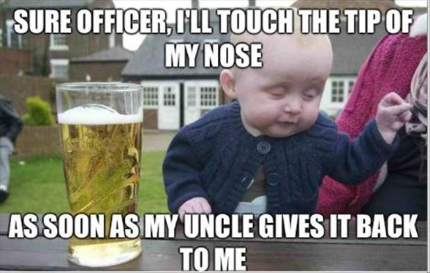 Drunk Baby Missing Nose