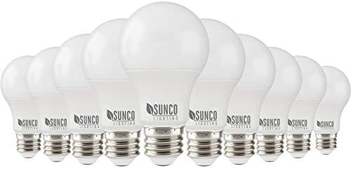 Sunco Lighting 10 Pack A19 LED Bulb, 3W=25W, 4000K Cool White, 250 LM, Dimmable, E26 Base, Indoor Light – UL