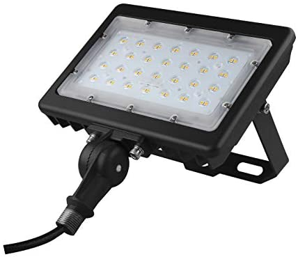 50W LED Flood Light 7000Lm Led Shoebox Pole Lights with Knuckle & Bracket Mount, 5000K IP65 Waterproof Outdoor Security Lighting for Doorway Garden Yard Advertising Board and Parking Lot (UL-Listed)