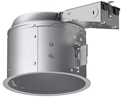 HALO E27RICAT E26 Series Recessed Lighting Shallow Remodel Insulation Contact Rated Air-Tite Housing, 6″, Aluminum