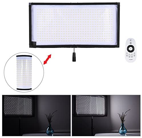 Andoer FL-3060 LED Light 5500K CRI90+ 85W Max.8000LM Flexible Cloth Roll-up Handheld LED Video Photography Film Fill-in Light Panel with Remote Control Support 4 Groups