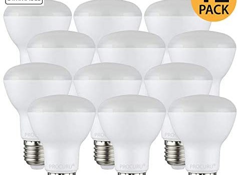 [12-Pack] PROCURU BR20 Dimmable LED Flood Light Bulb 7W (50W) 2700K Soft White 550 Lumens, Indoor/Outdoor, UL & Energy Star Certified