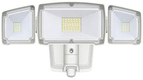 Security Light, AmeriTop Dusk to Dawn Super Bright LED Flood Light Outdoor; 35W 3500LM LED Outdoor Lighting, ETL- Certified, Wide Angle Illumination, IP65 Waterproof, 6500K – White