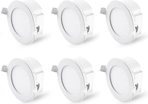Hyperikon 4 Inch Recessed LED Downlight with Junction Box Dimmable, 8.5W=60W, Energy Star, UL, Daylight White, 6 Pack