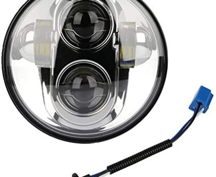 Round LED Motorcycle Headlight For Yamaha Models For Road Star Limited Edition XV1600A: 2003 For Road Star Midnight Star XV1600AS XV1700AM: 2001-2007