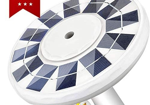 IVYSHION Solar Flag Pole Light – LED Downlight with 2 Modes Auto On/Off Night Lighting IP65 Waterproof for Most 15 to 25 Ft In-Ground Flag Poles & 0.55″ Wide Flag Ornament Spindles(128 LED 2500mAh)