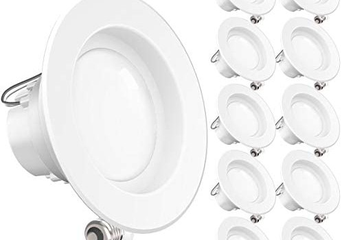 Sunco Lighting 10 Pack 4 Inch LED Recessed Downlight, Smooth Trim, Dimmable, 11W=40W, 4000K Cool White, 660 LM, Damp Rated, Simple Retrofit Installation – UL + Energy Star