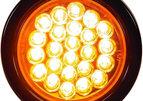 Buyers Products 4″ Round LED Recessed Strobe Light, Amber