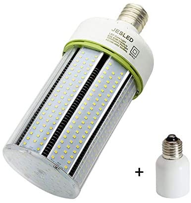 80W LED Corn Light Bulb, Large Mogul Base E39 LED Bulbs, 10800 Lumens (400W-600W Equivalent), 5000K Daylight, AC100-277V, JESLED Metal Halide Replacement for Outdoor Indoor Area Lighting HID/CFL/HPS