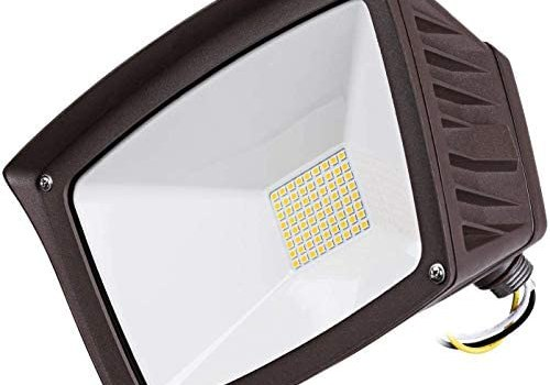 LEONLITE 40W LED Knuckle Mount Flood Light, 350W Eqv. Outdoor Flood Light, 4800lm Super Bright Wall Washer Security Light, IP65 Waterproof, 5000K Daylight, for Yard/Parking Lot/Patio