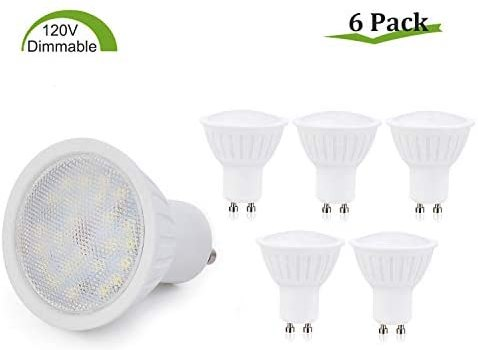 GU10 LED Bulbs Dimmable,7W(65W Halogen Bulb Equivalent),GU10 Base,Natural White 4000K LED Recessed Light Bulb,120° Beam Angle,700LM,120V Small Flood Light Bulbs Indoor Track Lighting Lamp – 6 Pack