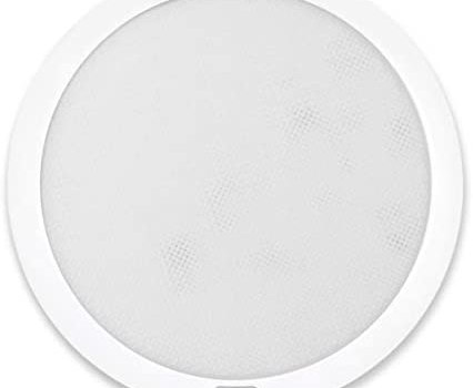 Dream Lighting 12Volt LED 8.5inch Panel Light with Switch Ceiling Downlight Interior Automotive Boat Cabin-Warm White and Blue Lighting, with Memory Function, Surface Mount